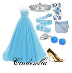 """""""Cinderella"""" by disney-geek-freek ❤ liked on Polyvore featuring STELLA McCARTNEY, Bling Jewelry, Kate Spade, Giani Bernini and Casetify"""