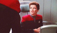 Intrepid-class — thejanewaydirective: 15 Days of Voyager DAY. Kate Mulgrew, Star Ship, Star Trek Voyager, Deep Space, My Heart Is Breaking, Ol, Nerdy, Feels, Gifs