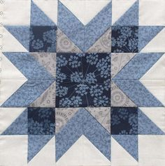 Vintage Sampler Quilt Block made by Julie Cefalu. Designed by Barbara Eikmeier Vintage Sampler Quilt Block made by Julie Cefalu. Designed by Barbara Eikmeier The Crafty Quilter - Quilting tips and inspiration I'm sharing lots of quilt blocks with you toda Big Block Quilts, Star Quilt Blocks, Star Quilt Patterns, Star Quilts, Easy Quilts, Mini Quilts, Pattern Blocks, Sampler Quilts, Patchwork Cushion
