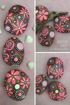 Rock Art! Hand Painted Rocks, Mandala Designs. ethereal & earth - otherworldly & of this world creations.