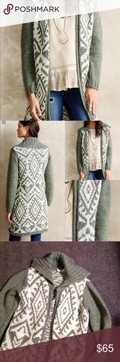 Anthro Moth Walden Stitch Hangs Open Long Sweater Anthropologie Walden Stitch Cardigan Sweater. Long hangs open in an acrylic/mohair/ wool blend. Size XS. Nice condition Anthropologie Sweaters Cardigans