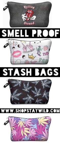 Smell proof stash bags from ShopStayWild.com #love #home #ideas #things #idea #marijuana #cannabis #stoned #high #cannabiscures #legalize #420 #710 #wax #shatter #glass #vape #style #ideas #ganja #kush #cbd #bath #smoke #bongbeauties #alien #ganjagirls #potprincess #bakedbarbie #stonergirl #stoner problems #weed humor #funny #cool