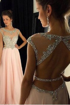 Prom Dress Beautiful, 2019 Cap Sleeves Prom Dresses Scoop A Line Chiffon With Beading Floor Length, Discover your dream prom dress. Our collection features affordable prom dresses, chiffon prom gowns, sexy formal gowns and more. Find your 2020 prom dress Prom Dresses Long Pink, Prom Dresses With Sleeves, Backless Prom Dresses, A Line Prom Dresses, Junior Bridesmaid Dresses, Prom Party Dresses, Occasion Dresses, Evening Dresses, Quinceanera Dresses