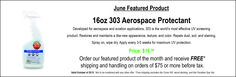 303 Aerospace Protectant provides protection from cracking and fading caused by damaging UV rays.