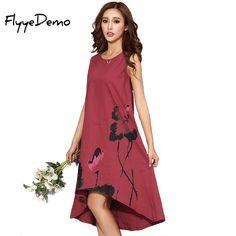 d2120a572c Asymmetric Summer Linen Dress M - 6XL Dress 2017