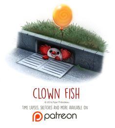 Day+1440.+Clown+Fish+by+Cryptid-Creations.deviantart.com+on+@DeviantArt