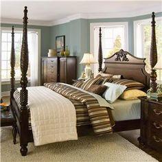 Bernhardt Belmont King Size Poster Bed With Carved Post U0026 Headboard Detail  @ Sprintz Furniture   Poster Bed