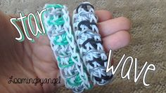 awesome Rainbow Loom - Star Wave - Original Design - Rainbow Loom Tutorial Rainbow Loom Tutorials, Rainbow Nail Art, Starred Up, Us Nails, Art Boards, Waves, The Originals, Stars, Awesome