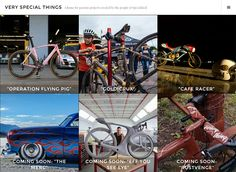 "Screenshot of ""Very Special Things,"" a home for passion projects created by the people of Specialized Bicycles"