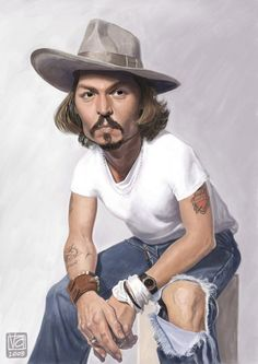 Johnny Depp..FOLLOW THIS BOARD FOR GREAT CARICATURES OR ANY OF OUR OTHER CARICATURE BOARDS. WE HAVE A FEW SEPERATED BY THINGS LIKE ACTORS, MUSICIANS, POLITICS. SPORTS AND MORE...CHECK 'EM OUT!!