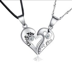 d3 925 silver Never separated love pendant necklace, shop at Costwe.com