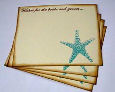 Wedding Guest Book Alternative Cards - Set of 50 - Beach Starfish Wedding Wishes. $19.00, via Etsy.  http://www.etsy.com/listing/94831454/wedding-guest-book-alternative-cards-set#