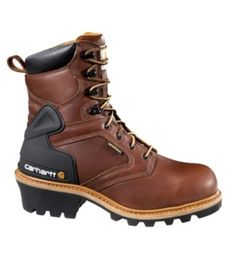Carhartt - Product - Men's 8-Inch Logger Boot (Brown)/Non-Safety