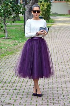 Gorgeous tulle skirt tulle skirts ezgi emrealp of the think beyond pink and white. a tulle skirt in IENVLBC Black Tulle Skirt Outfit, Skirt Outfits, Dress Skirt, Dress Up, Purple Skirt, Adult Tutu, Street Looks, Street Style, Outfit Trends