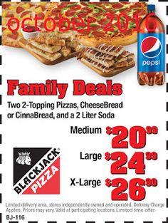 Black Jack Pizza Coupons
