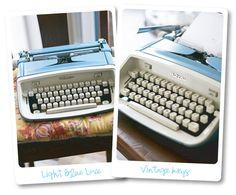 Vintage typewriter.