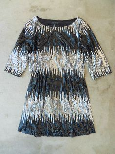 Black and Silver Sequins Party Dress <3 #blackandwhite #celebration