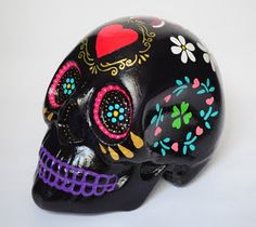 'day of the dead' decorated skull