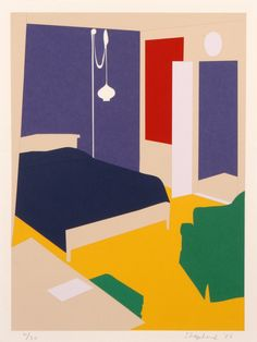 """""""Paper Bedroom"""", 2006, limited edition print by Kate Shepherd"""