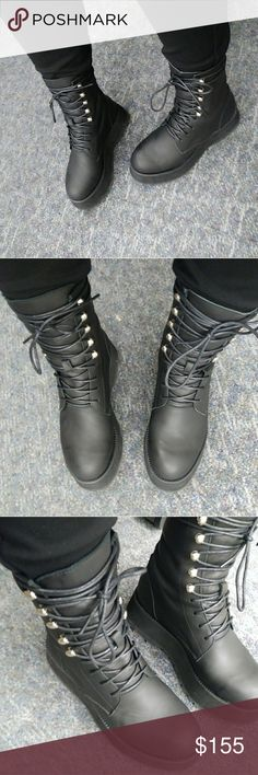 UNIF Armada Leather Lace Up Boots 6 SOLD OUT ....Worn twice. Extremely comfortable!!! Only reason I'm selling is to buy a couple other things I want more!! These are really nice and in excellent condition!! UNIF Shoes Combat & Moto Boots