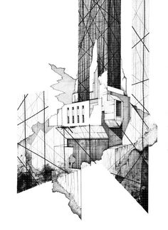 Fabriciomora Architectural Illustrations By Kyle Henderson ; fabriciomora architectural illustrations von kyle henderson Fabriciomora Architectural Illustrations By Kyle Henderson ; Architecture Art Nouveau, Architecture Sketchbook, Architecture Collage, Concept Architecture, Architecture Design, Architecture Tumblr, Architecture Illustrations, Academic Drawing, Lebbeus Woods