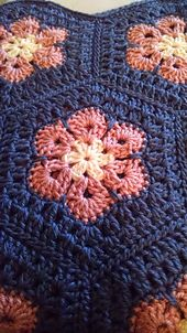 Hexagon - African flower. to be used for baby blanket. need to check the sizing first.
