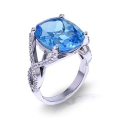 Are you searching for a Large Blue Topaz Ring? See the gemstone jewelry collection made in America by the artisans at Jewelry Designs.