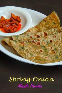 Spring Onion Masala Paratha |