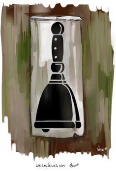 Malforme guild sign (based upon a bell lepers used) made for gamenstuff, Niels Vergouwen Watkanjewel.com