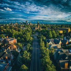 The view down Richmond Avenue, Buffalo