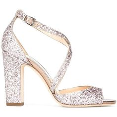 Jimmy Choo Carrie 100 sandals (34,665 DOP) ❤ liked on Polyvore featuring shoes, sandals, pink, strappy sandals, strappy leather sandals, leather sandals, adjustable strap sandals and high heel sandals #jimmychooheelspink