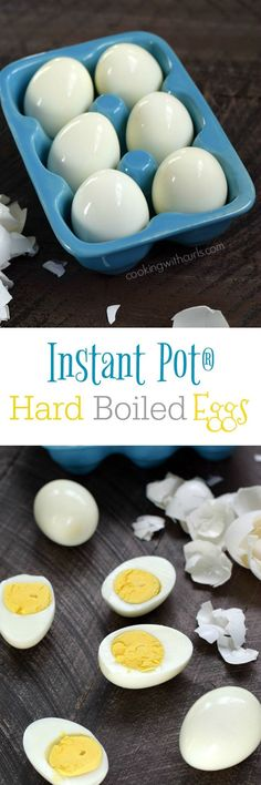 These Instant Pot Hard Boiled Eggs cook perfectly every time, and they are super easy to peel | cookingwithcurls.com