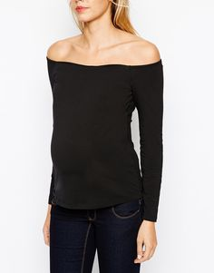 Pin for Later: 50 Great Additions to Your Maternity Wardrobe — All Under $50!  Asos Maternity Bardot Top ($30)