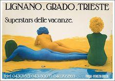 lignano grado trieste vintage ads | Manifesti di Nina & Tommy | Pint ...