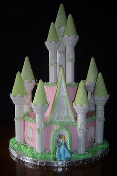 Lauren's 4th Birthday Princess Castle Cake by It's All About the Cake, via Flickr