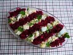 Herring Salad w/bits and apple Fish Salad, Cobb Salad, Polish Recipes, Polish Food, Xmas Food, Bruschetta, Great Recipes, Xmas Recipes, Seafood