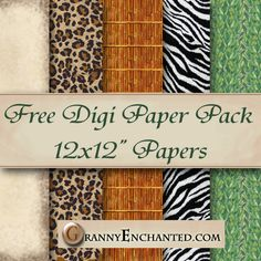 Free Safari Digi Scrapbook Papers ♥♥Join 3,900 people. Follow our Free Digital Scrapbook Board. New Freebies every day.♥♥