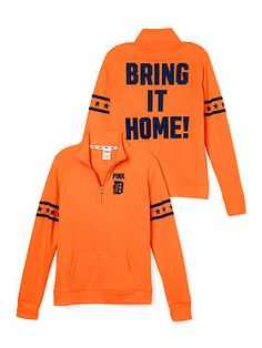 Find cute collegiate apparel perfect for everything from game day to class. Only at PINK. Womens Half Zip Pullover, Mlb Detroit Tigers, Cute Bras, Hoodies, Sweatshirts, Victoria Secret Pink, Long Sleeve Shirts, Bring It On, Graphic Sweatshirt
