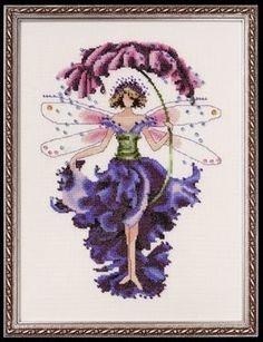 "NC132 -Pansy-Spring Garden - Pixie Couture Collection - Nora Corbett Designs (Mirabilia Designer) Uses / Description: 862101 Antique White Jobelan 32ct, 429101 Antique White Jobelan 28ct, 65110 French Lace Linen 32ct, 355110 French Lace Aida 16ct  Beads: (# of pkgs) 02085 (1), 16026 (1), 18827 (1)  Treasures: (# of pkgs) 13007 (1), 13052 (3), 13062 (2)  Kreinik: See website. See Nora Corbett Embellishment Pack: NC132E  **Approximate size 7.3"" w x 10.6"" h"