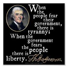 Jefferson Tyranny Liberty Quote Print: Home & Kitchen