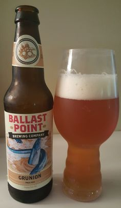 Ballast Point Grunion (A)PA is 5.5 ABV and 35 IBU. The appearance is orange amber and the nose floral melon hop. The flavor is sweet malt and a larger pine, citrus hop character than the IBUs would indicate. The mouthfeel and such are all moderate and drinkable. Some reviewers noted a slight onion flavor which I never would have picked out prior to reading it but perhaps through power of suggestion started to notice. Very well done APA that drinks like an AIPA, easily recommended.