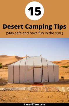 Desert camping can be fun but it can also be dangerous. Use these 15 desert camping tips to stay safe and have fun on your next trip. #camping #outdoors Hiking Tips, Camping And Hiking, Tent Camping, Camping Hacks, Get Outdoors, Camping Outdoors, Book Cheap Hotels, Road Trip, Destinations