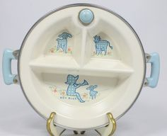 Vintage Baby Hot Water Feeding Dish  Little by ilovevintagestuff