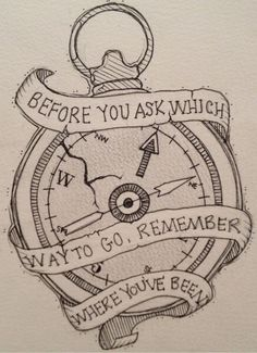 Beautiful saying with great detail on the compass!