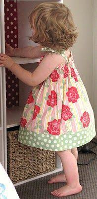 easy dress. elastic chest. Summer Time Fun Dress Tutorial