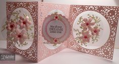 Debra Shaw - Circle Accordion base die - Cherish overlay - Acetate from die packaging -Stick It sheet - Sara Davies Floral Delight dies - Collall 3D gel - Crafter's Companion verse stamp - #crafterscompanion