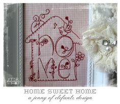 Looking for your next project? You're going to love HOME - a sweet stitchery by designer Elefantz. - via @Craftsy