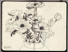 Ian Sidaway Fine Line: Spring Flowers and Studio