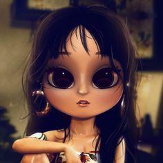 Cartoon, Portrait, Digital Art, Digital Drawing, Digital Painting, Character Design, Drawing, Big Eyes, Cute, Illustration, Art, Girl, Camila, Cabello, Havana, Earrings, Bangs