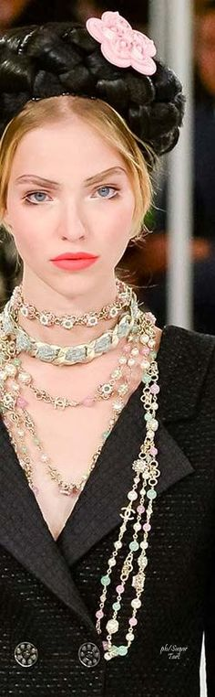 Chanel ~ Resort Gold + Pearls Necklaces, 2016